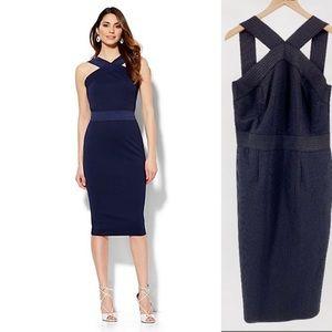 New York & Company Bandage Knit Bodycon Midi Dress
